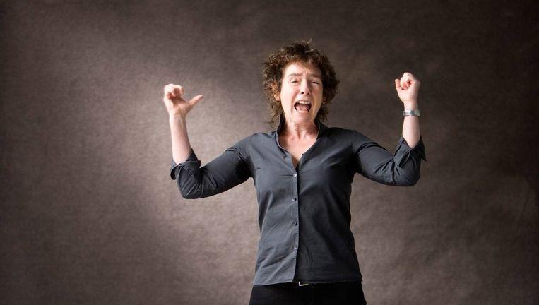 Jeanette Winterson op het Edinburgh International Book Festival, 2012. Beeld Murdo Macleod