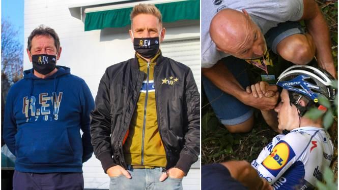 """Supporters Remco Evenepoel bleven hun wielerheld steunen na doodsmak in Ronde van Lombardije: """"Pannenkoeken en balletjes in tomatensaus brachten hem weer op de been"""""""