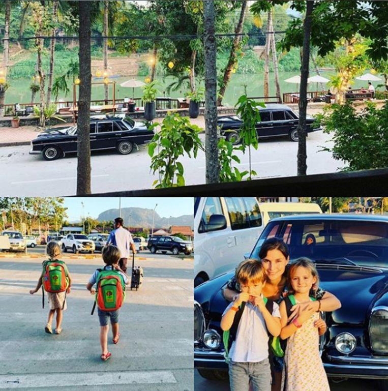 De familie in Laos