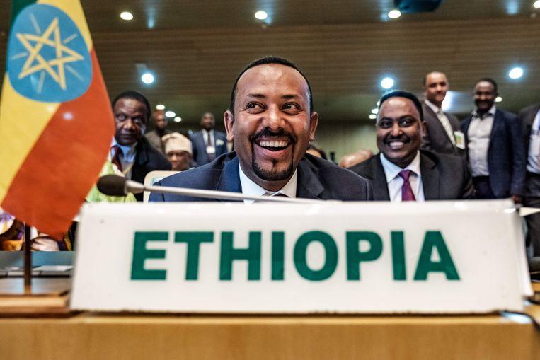 De Ethiopische premier Abiy Ahmed Ali. Beeld AFP