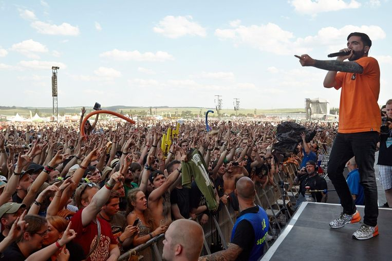 De Amerikaanse hardcoreband A Day To Remember gisteren op Rock am Ring.