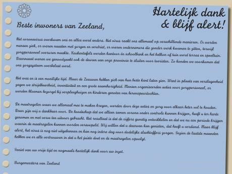 Zeeuwse burgemeesters bedanken inwoners voor discipline in pandemie