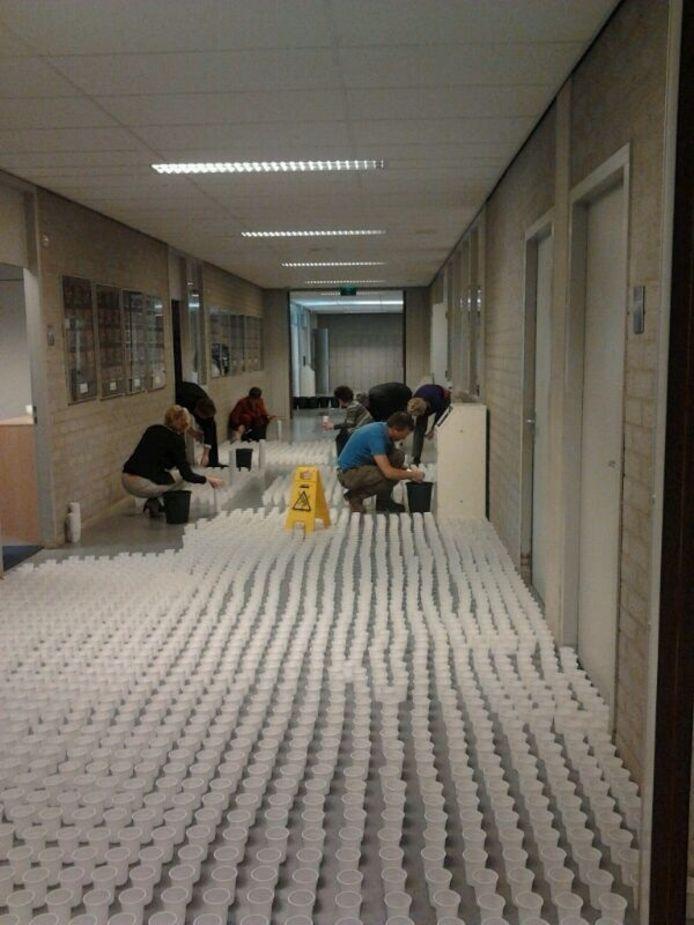 Eindexamenstunt Beatrix College.