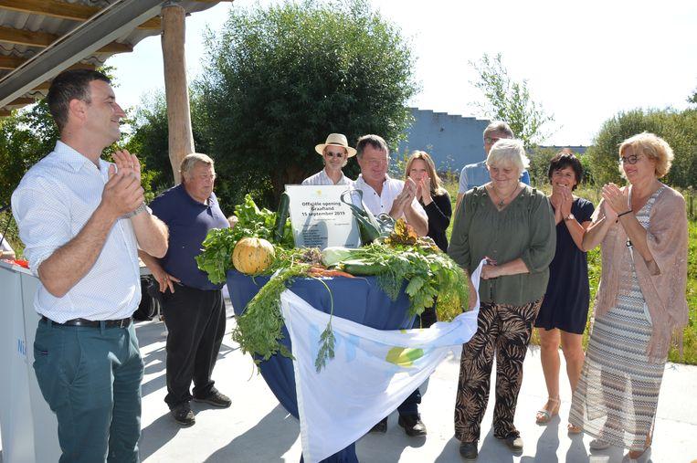 De officiële opening van volkstuinsite 'Graafland' in Ninove.