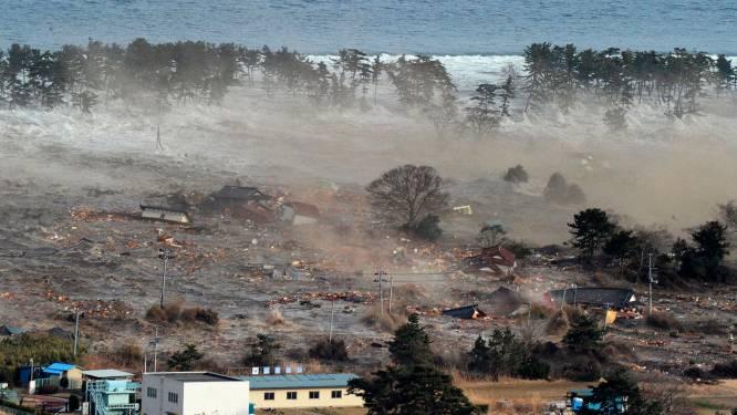 Tsunami's tot tien meter vernielen huizen in noorden Japan