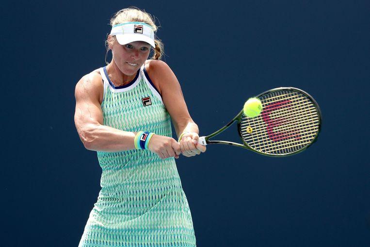 Kiki Bertens op de Miami Open tegen de Australische Ashleigh Barty. Beeld AFP