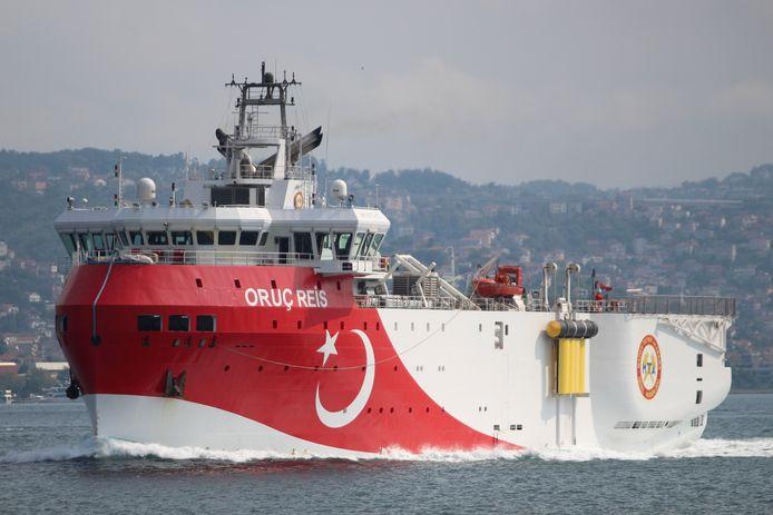 Het Turkse onderzoeksschip Oruc Reis