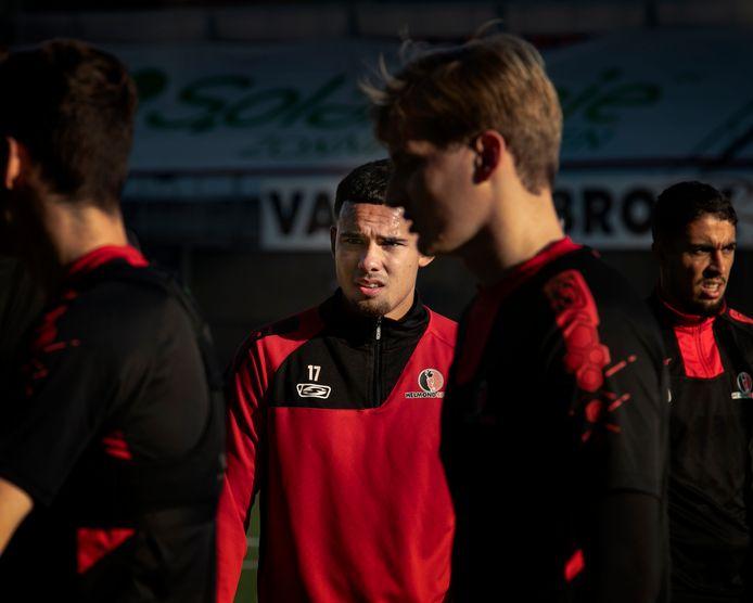 Joël Roeffen op de training van Helmond Sport.