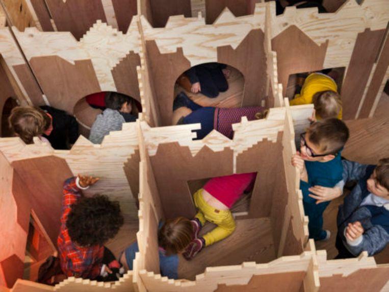 Het doolhof voor de kinderen.