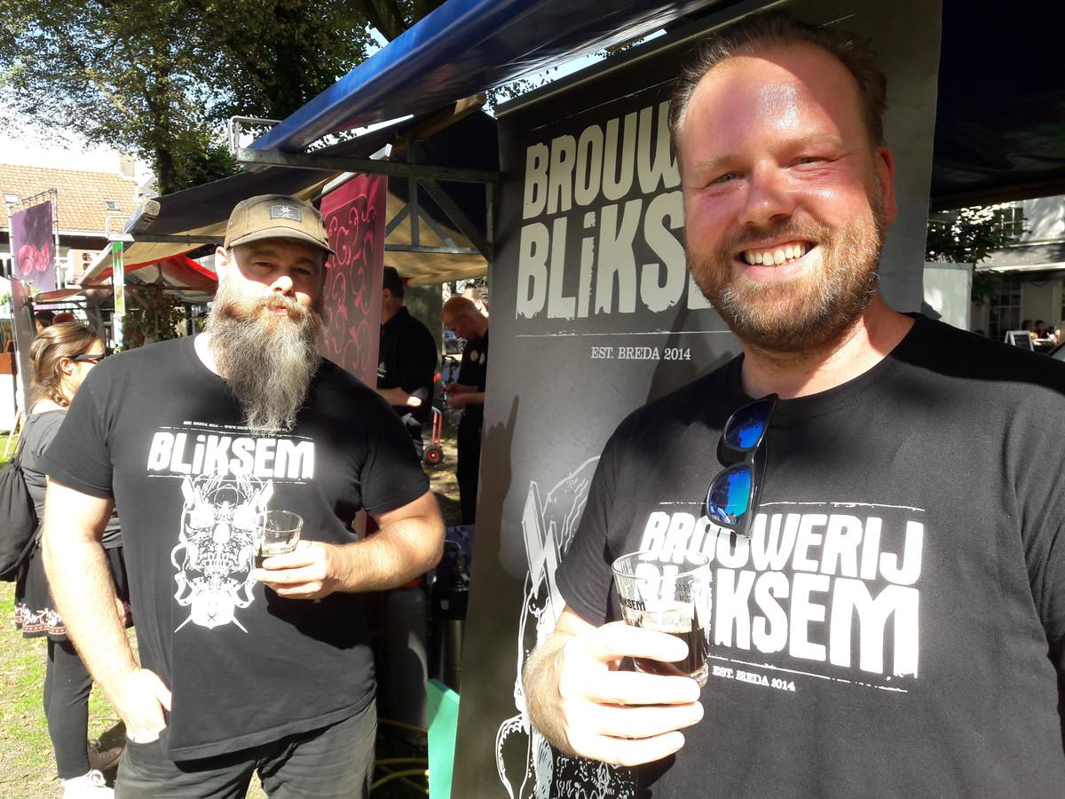 Merijn Dietvorst (links) en Sebastiaan van Fessem, van Bliksem uit Breda, brouwden Brabants Lekkerste Bier 2018: Black Sabbath.