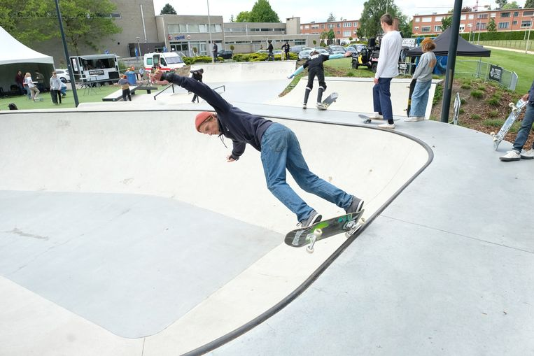 De skatewedstrijd in Hemiksem.