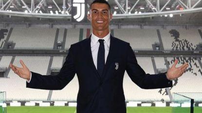 """Ronaldo over zijn transfer, de hoop dat zijn oudste zoon ook voetballer wordt en over zijn looks: """"Ik zie er goed uit omdat ik dat ben... Grapje!"""""""