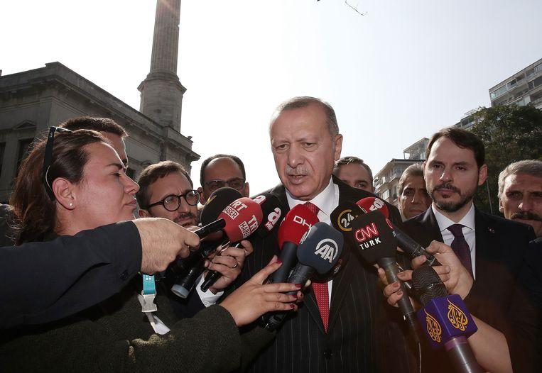 De Turkse president Recep Tayyip Erdogan vandaag