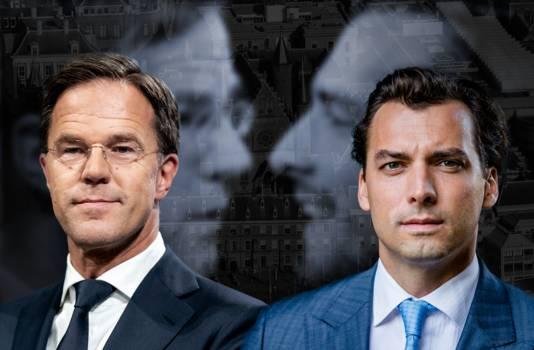 Mark Rutte en Thierry Baudet