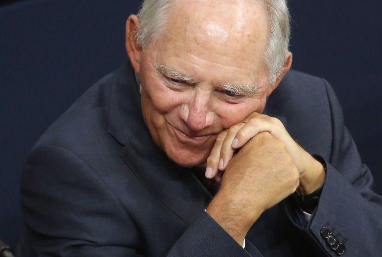 Duitslands minister van Financiën Wolfgang Schäuble.