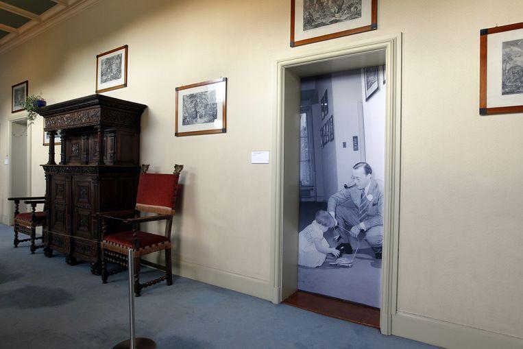 Een kamer is te bewonderen tijdens de tentoonstelling Op Soestdijk. Beeld anp