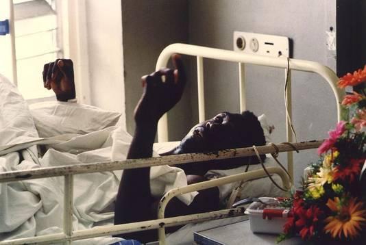 Lens in het ziekenhuis.