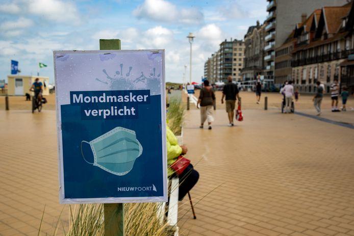 Nieuwpoort houdt, samen met De Panne en Koksijde, vast aan de mondmaskerplicht.
