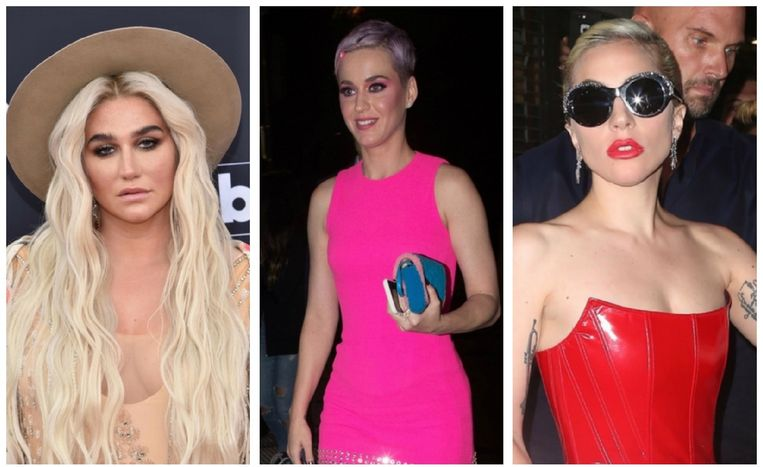Kesha, Katy Perry en Lady Gaga