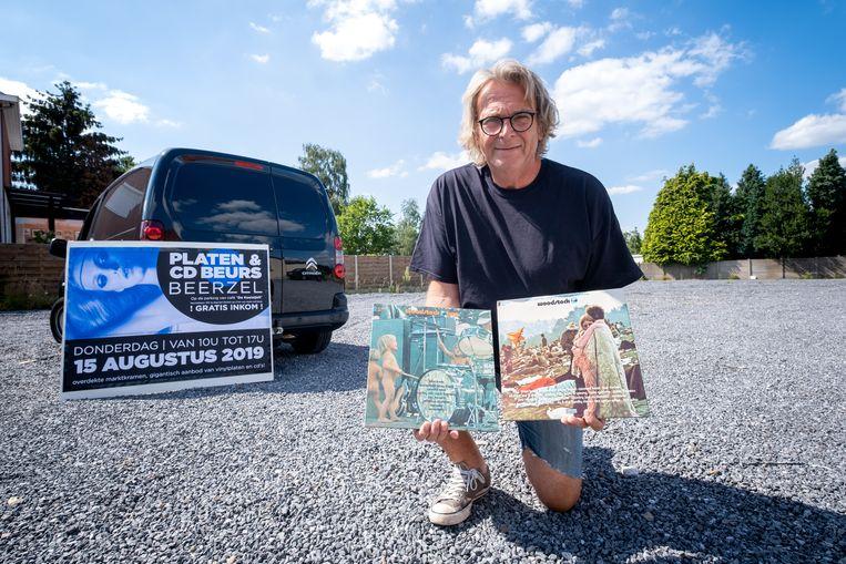 Guido Van Woensel organiseert de platen- en cd beurs met als thema Woodstock