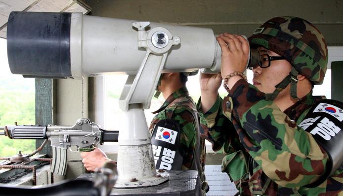 Zuid-Koreaanse grenswachten hielden hun buren in het noorden nauwlettend in de gaten, maar dat is eind van de maand afgelopen