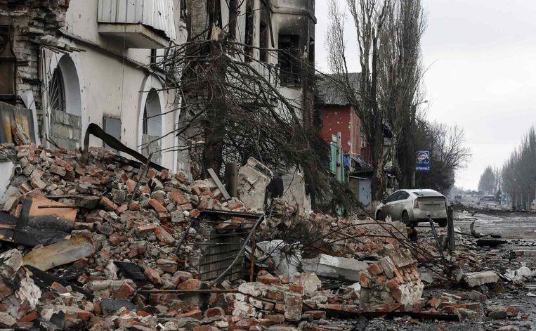 Verwoesting in Debaltseve. Beeld reuters