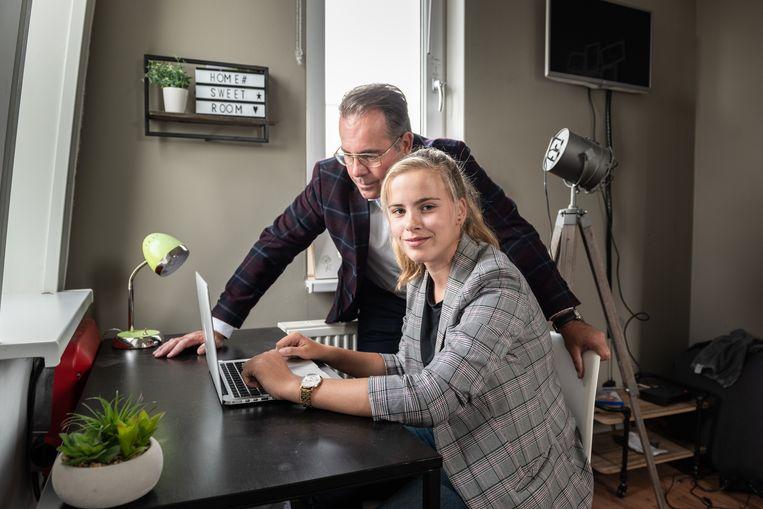 Arjan en Brunhilde Koopmans.  Beeld Simon Lenskens