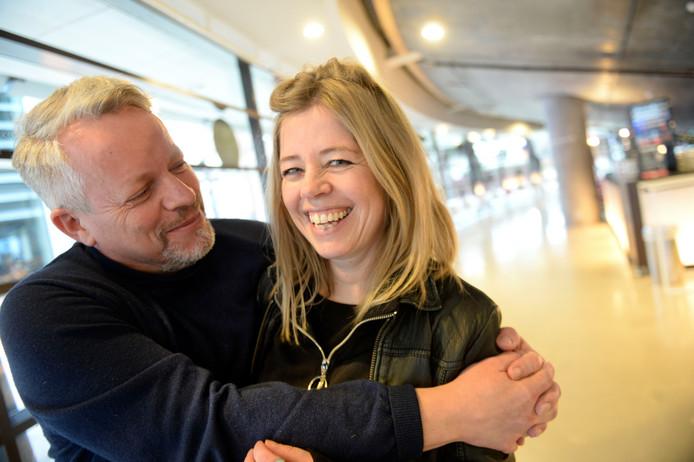 Nicolas Mansfield van de Nederlandse Reisopera en  Karine Roldaan van Theatermakerij.