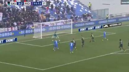 FT buitenland. Fiorentina pakt punt tegen Sassuolo dankzij treffer van Mirallas in 96ste (!) minuut