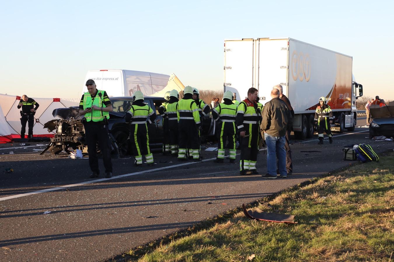 Dodelijk ongeval op de A50 bij Nistelrode.