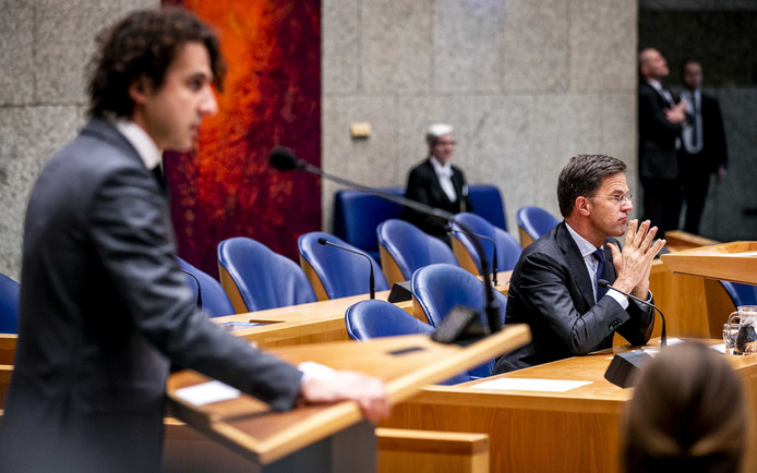 Jesse Klaver (GroenLinks) en premier Mark Rutte (VVD)