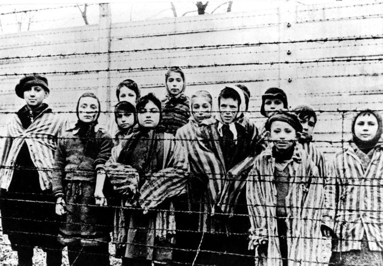 Foto genomen vlak na de bevrijding van Auschwitz door het Sovjetleger Beeld ap