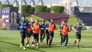 VIDEO. Training van Club Brugge in Doha wordt plots overstemd door het avondgebed