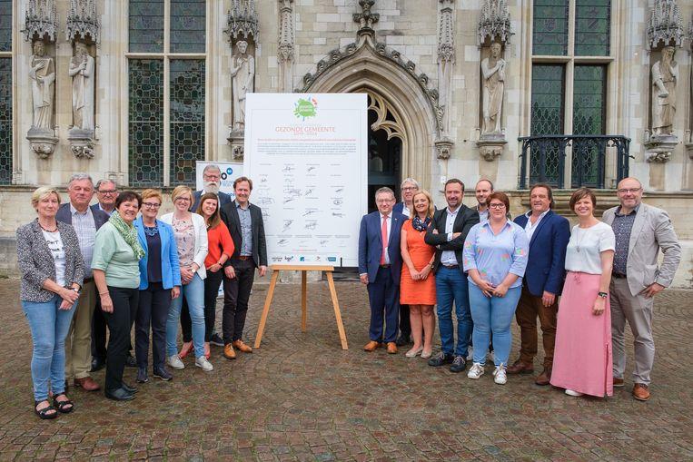 Twintig steden en gemeenten ondertekenen het charter Gezonde Gemeente