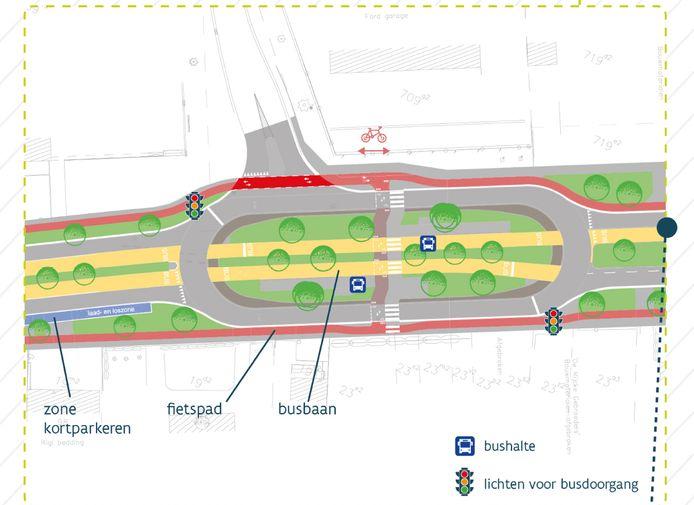 Aan het Pareinpark komt één van de twee ovondes die de verkeersafwikkeling veiliger maken en een vertragend effect hebben op het verkeer.