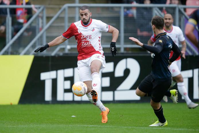 Oussama Tannane nog in het shirt van FC Utrecht. Bij Vitesse jaagt hij op eerherstel.