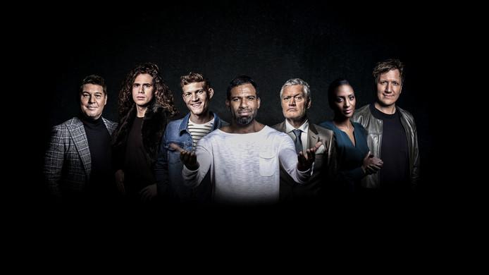 Martijn Krabbé, Lucas Hamming, Paul Sinha, Edwin Jonker, Porgy Franssen, Edsilia Rombley en Klaas van Kruistum.