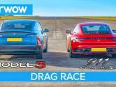 Wie wint de sprint: Tesla Model 3 of Porsche 911 Carrera S