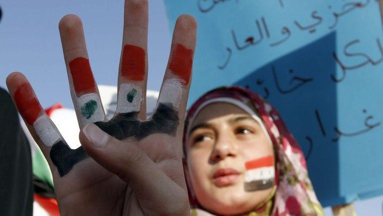 Ook vandaag gingen weer honderduizenden de straat op in Syrië. Beeld epa