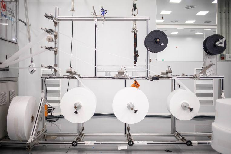 Om aan de benodigde machines te komen, wendde de fabriek in Etxebarria zich tot een bedrijf dat deel uitmaakt van dezelfde coöperatie. Dat kon de machines kopen in China. Beeld César Dezfuli