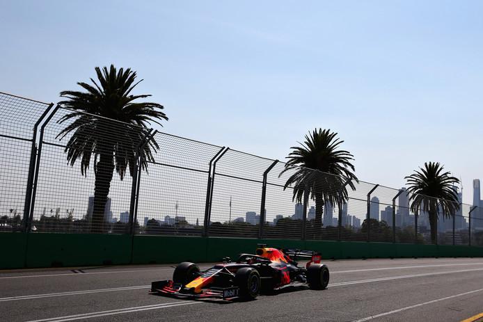 Max Verstappen in de laatste vrije training.