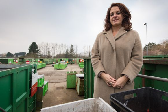 Archieffoto: Katleen Mertens, woordvoerster van IOK Afvalbeheer