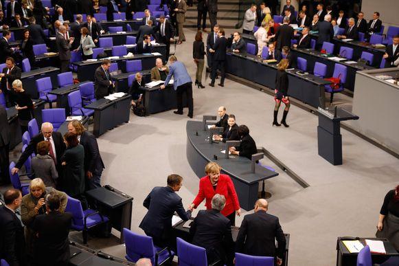 Angela Merken was vanmorgen ook aanwezig op de zitting van het Duitse parlement.