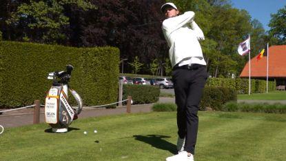 """Thomas Pieters mag in vaste club weer oefenen tegen andere golfers: """"Geen wedstrijden, maar ik heb toch al dit"""""""