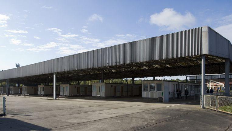 De gebouwen van de voormalige grensovergang Marienborn. Beeld anp