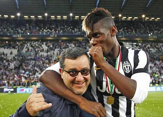 Raiola en Pogba, toen nog uitkomend voor Juventus.