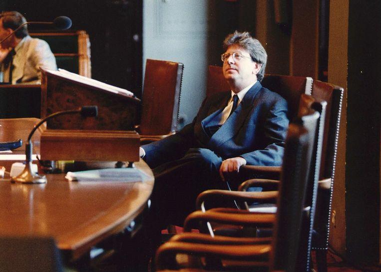 1993. Wallage in de Eerst Kamer, als staatssecretaris van sociale zaken  Beeld ANP
