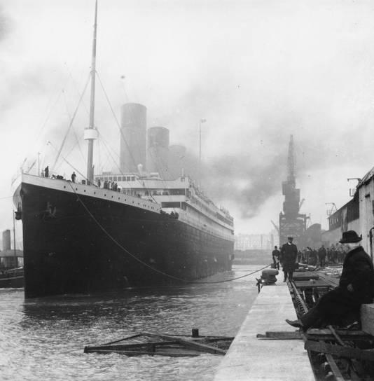 De Titanic voor vertrek in 1912