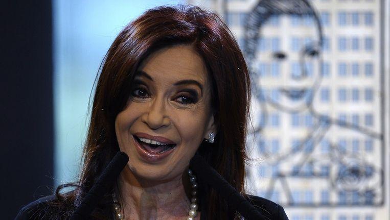 President Kirchner. Beeld afp