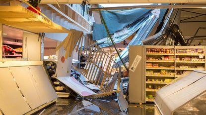 Dak van Delhaize-winkel stort in